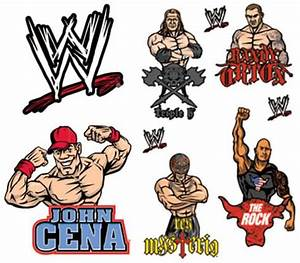 wwe decals adesivos na allposterscombr With cool wwe wall decals