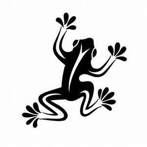 Cool Simple Tribal Frog Tattoo Design | Tattoobite ...