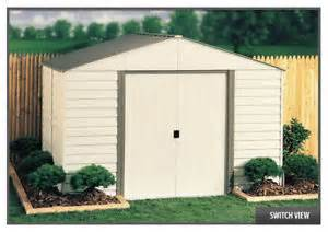 arrow sheds 10x12 vinyl milford storage shed kit vinyl coated steel vm1012