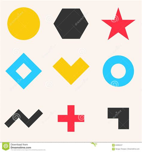 Abstract Shapes Collection by Collection Of Abstract Geometric Shapes Stock Vector