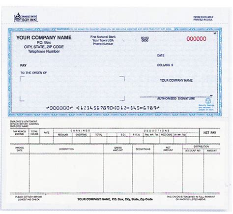 check template psd download our sle of free payroll checks templates blue