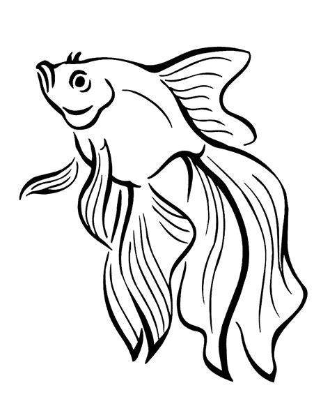 Gambar Mewarnai Ikan Mas Koki Murid 17 Poster