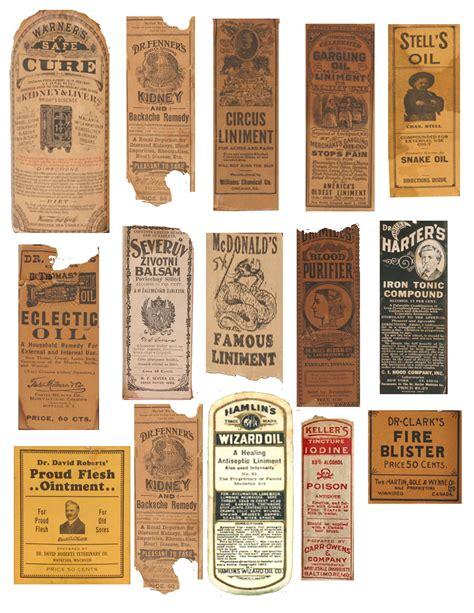 vintage medicine bottle labels (real) sheet 3 of 3 ...