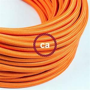 fil electrique rond gaine de tissu de couleur effet soie With couleur de fil electrique