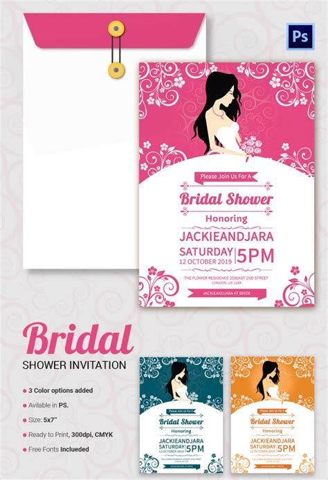 sample bridal shower invitation template  documents