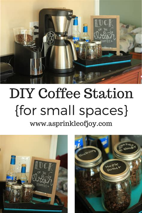 diy coffee station  small spaces  sprinkle  joy