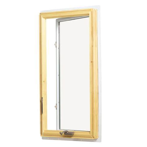 andersen       series casement wood window  white exterior  prairie