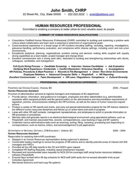Chronological Resume Human Resources by Click Here To This Human Resources Professional