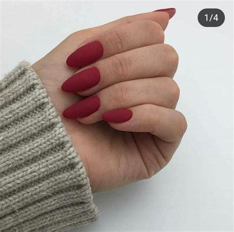 Красный матовый маникюр фото 2020 . шкатулка красоты