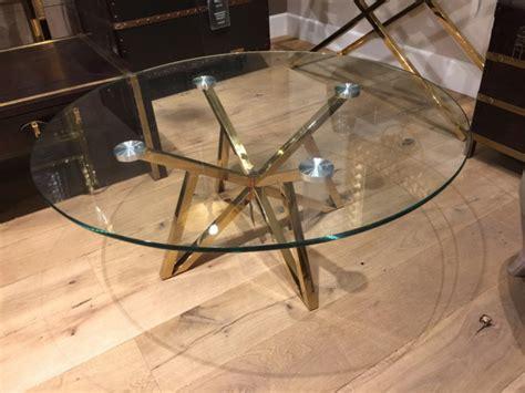 Runder Glas Couchtisch by Runder Couchtisch Glas Metall Glastisch Rund Gold Tisch