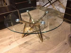 Glastisch Rund 50 Cm : runder couchtisch glas metall glastisch rund gold tisch rund durchmesser 100 cm ~ Indierocktalk.com Haus und Dekorationen