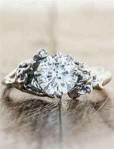 devi rose floral diamond engagement ring ken dana With nature wedding ring