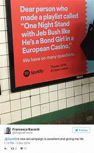 Everyone is loving these genius Spotify ads that look back ...