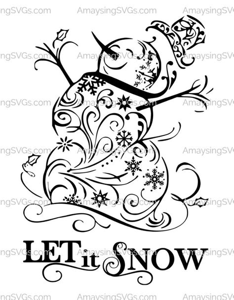 Christmas· free svg's· holiday crafts· paper crafts. The Let it Snow Snowman SVG is the quintessential snowman ...