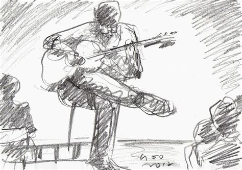 urban sketchers guitar players  arki cafe power vocal