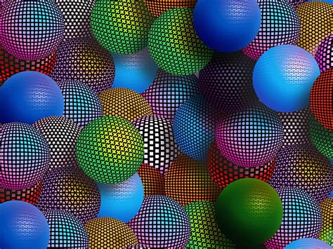 multicolored patterned spheres  wallpaper