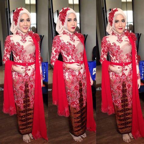 baju batik gamis pink model baju kebaya gamis modern wanita gemuk dan kurus