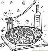 Coloring Spaghetti Italy Italian Pasta Map Rome Printable Capital Popular Getcolorings Coloringpages101 Restaurant sketch template