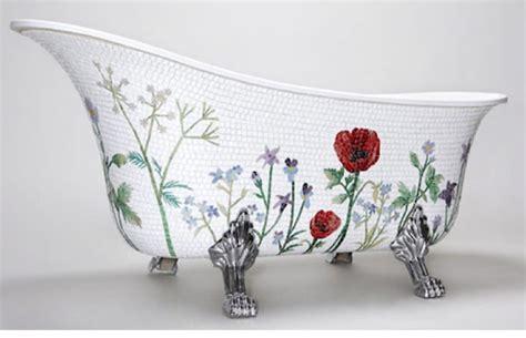 Swedish Mosaic Bathtub Will Bloom Your Bathroom