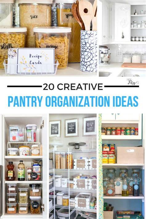 organization ideas for kitchen pantry 20 creative pantry organization ideas hey fitzy 7213
