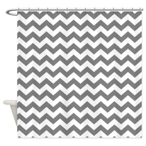 Gray Chevron Curtains Canada by Chevron Pattern Gray Shower Curtain By Marshenterprises