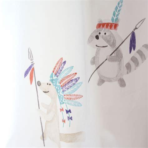 Indianer Tipi Kinderzimmer by Vorhang Indianer Tipi Mint Rot Grau Beige Kinderzimmer