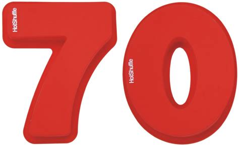 large 70th birthday anniversary number large 30cm silicone number 70 70th birthday platinum