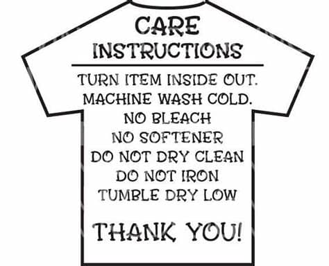 You can use our images for unlimited commercial purpose without asking permission. Care Instructions Digital File | T shirt Care Instructions ...