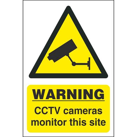 Warning Cctv Cameras Monitor This Site Signs Site