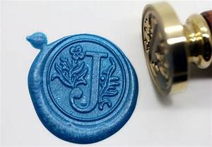 s1152 alphabet letter j wax seal stamp sealing With letter seal stamp