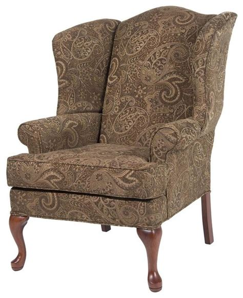 paisley coco wing back chair traditional chairs by