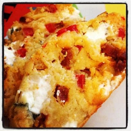 recette cake poivron chevre  chorizo