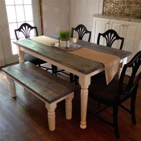 Cottage Chic Kitchen Table And Bench  Forget Them Not