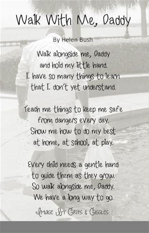 walk   daddy poem pictures   images