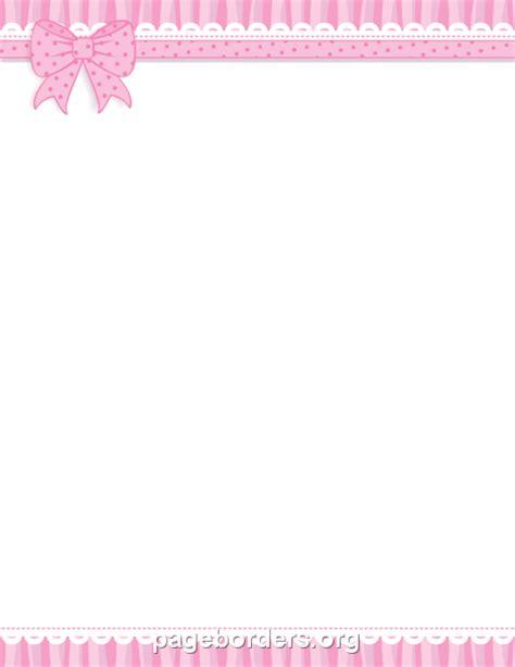 Pink Ribbon Border Clip Art, Page Border, And Vector Graphics