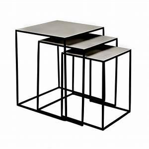 Table Basses Gigogne : tables gigognes design en m tal freja broste copenhagen ~ Zukunftsfamilie.com Idées de Décoration
