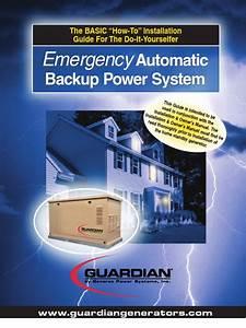 Generac Guardian Generator Installation Manual
