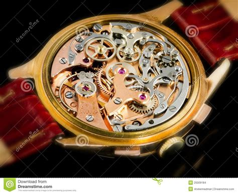 chronographe  movement valjoux  stock photo