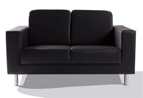 Susi 2-sitzer Sofa Kunstleder Schwarz