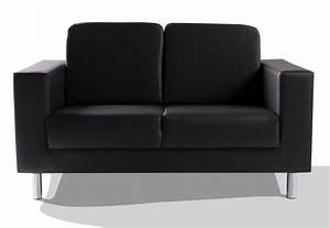 Kunstleder Couch Schwarz : susi 2 sitzer sofa kunstleder schwarz ~ Watch28wear.com Haus und Dekorationen