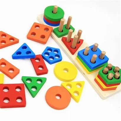 Blocks Puzzle Toy Shape Building Board Wooden