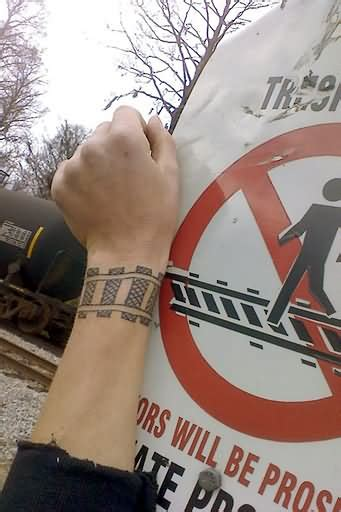 train tracks tattoos