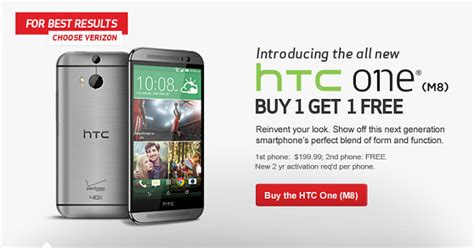 iphone buy one get one free verizon buy one htc one m8 from verizon get one free