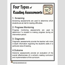 4 Types Of Reading Assessments Standard 1 Knowledge Of Literacy 11 Plan And Organize