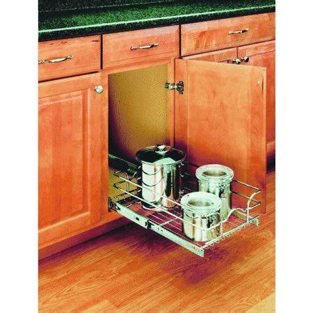 walmart pull out rev a shelf single pull out cabinet organizer walmart