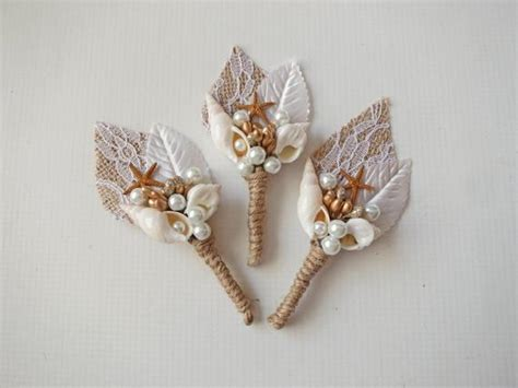 Wedding Accessories For Men : Moana Beach Wedding Boutonniere Mens Wedding