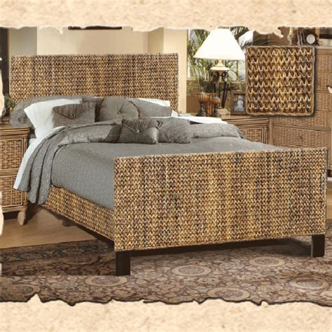 seagrass headboard and footboard complete bed king is a beautiful woven seagrass bed
