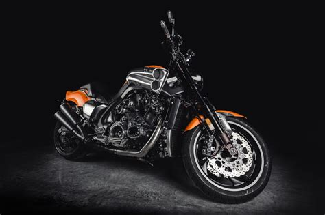Orange And Black Cruiser Bike Hd Wallpaper