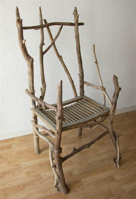 table bois cuisine caractère naturel fauteuil en bois flotté