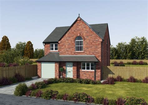 Houses With Garages by 4 Bedroom Detached House With Integral Garage And